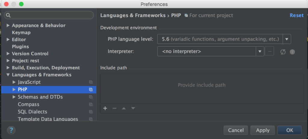 Languages & Frameworks - PHP